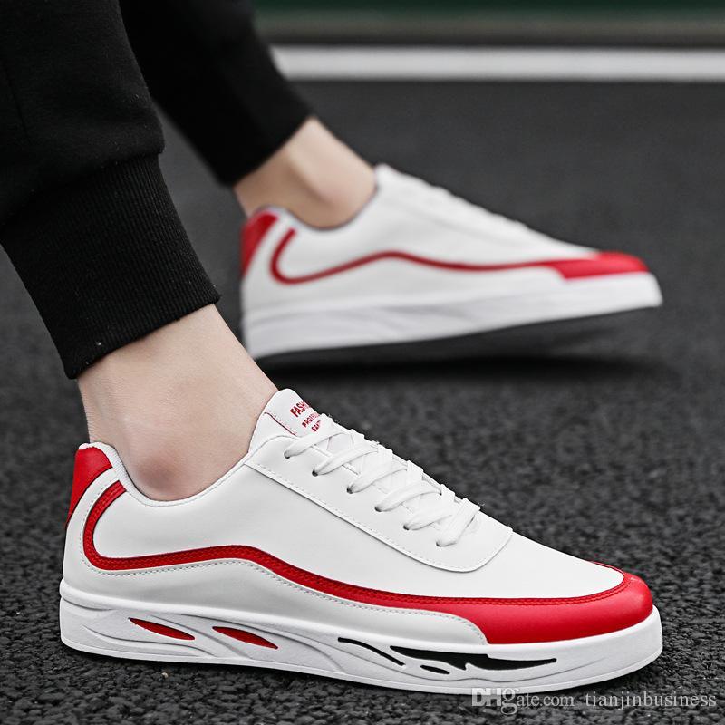 Nuevos zapatos de invierno. Versión coreana. Tendencia de ocio. Pequeños zapatos blancos. Zapatos de estudiantes. Malla PU.