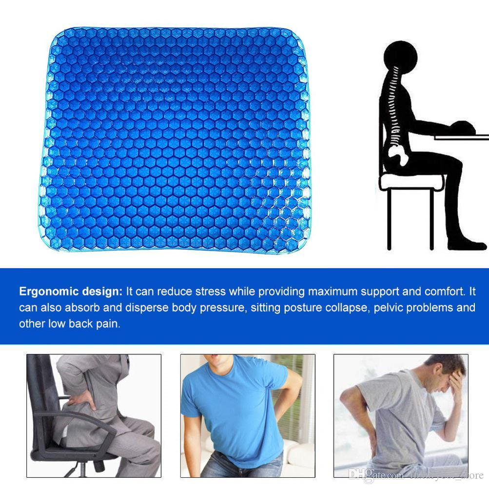 2020 fashion new Comfort orthopedic surgery chair seat cushion gel seat cushion honeycomb non-slip home office chair cushion fndgh