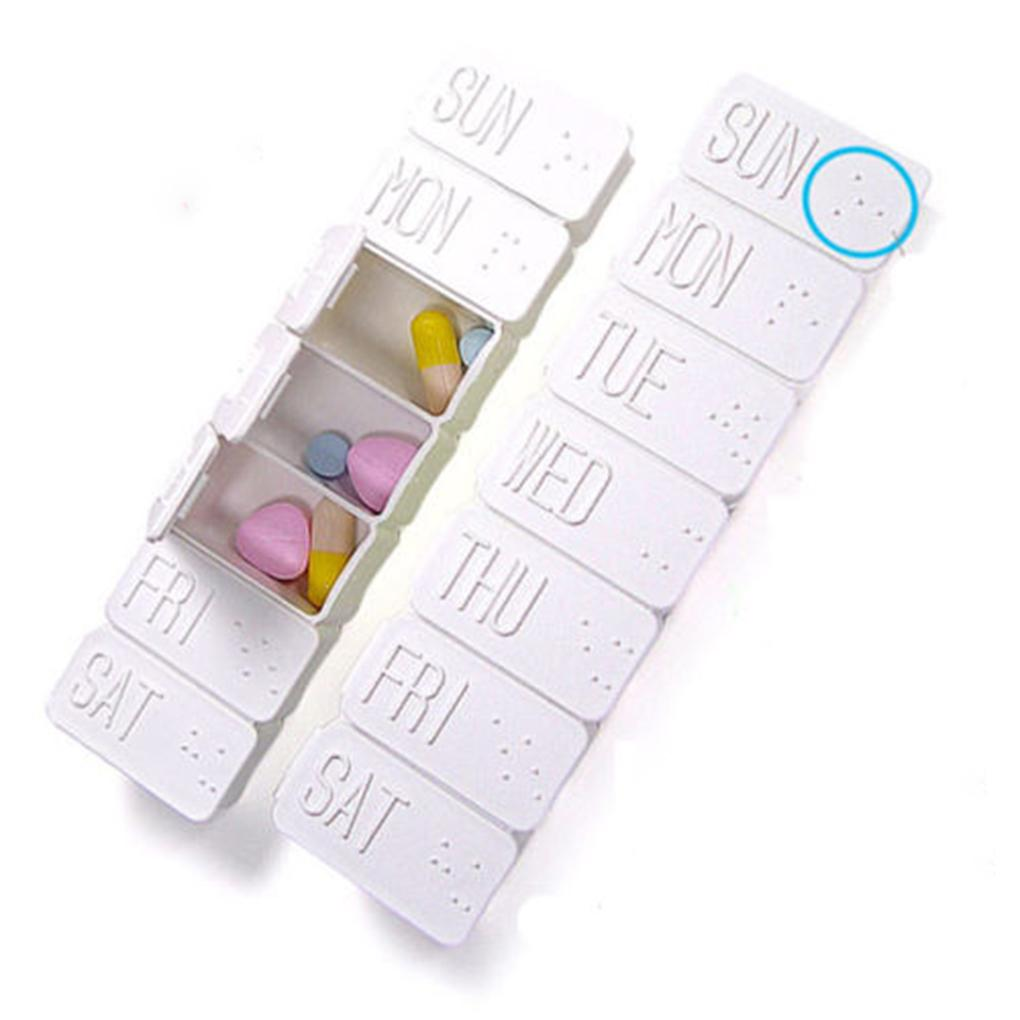 Boxes & Bins 7 Days Pill Box Holder Weekly Medicine Storage Organizer Container Case Portable Pill Storage Boxes Plastic