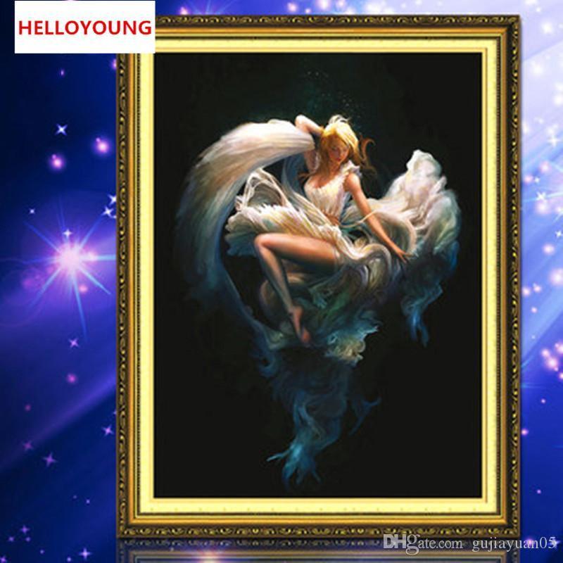 DIY 5D Diamonds Embroidery Mosaic Female dancers Round Diamond Painting Cross Stitch Kits Home Decoration