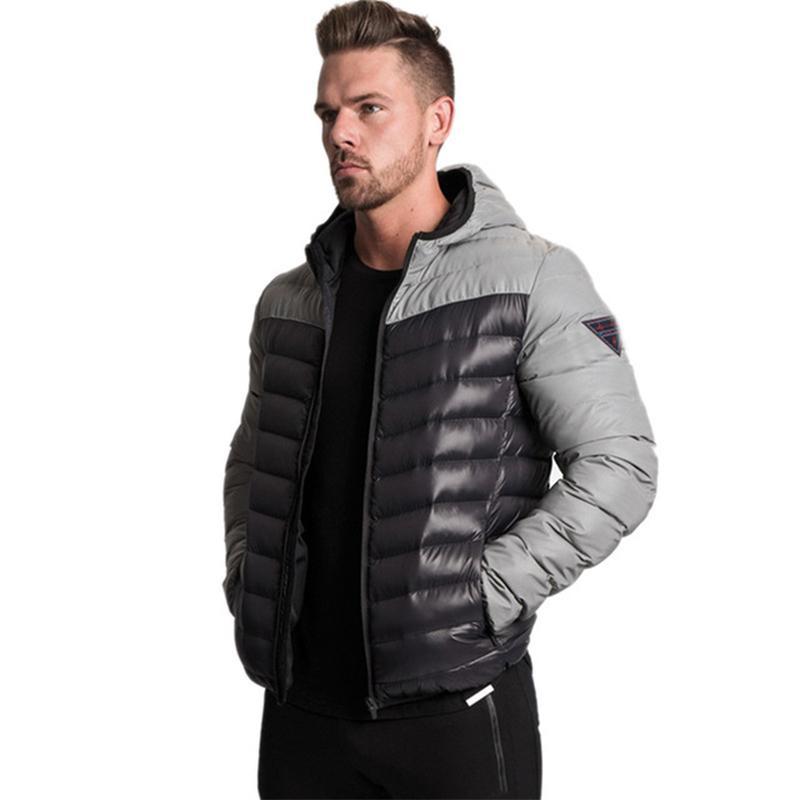 2019 Erkekler Casacos Kış Giyim erkek Gelgit Marka Kısa erkek Ceket Gevşek Renk Eşleştirme Açık Spor Roupas Masculinas