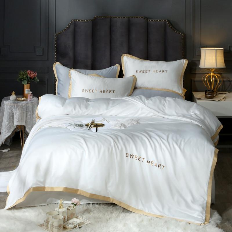Fashion Simple Style home bedding sets luxury Family Set Sheet Duvet Cover Pillowcase Full King Single Queen,bed set 2019 T200414