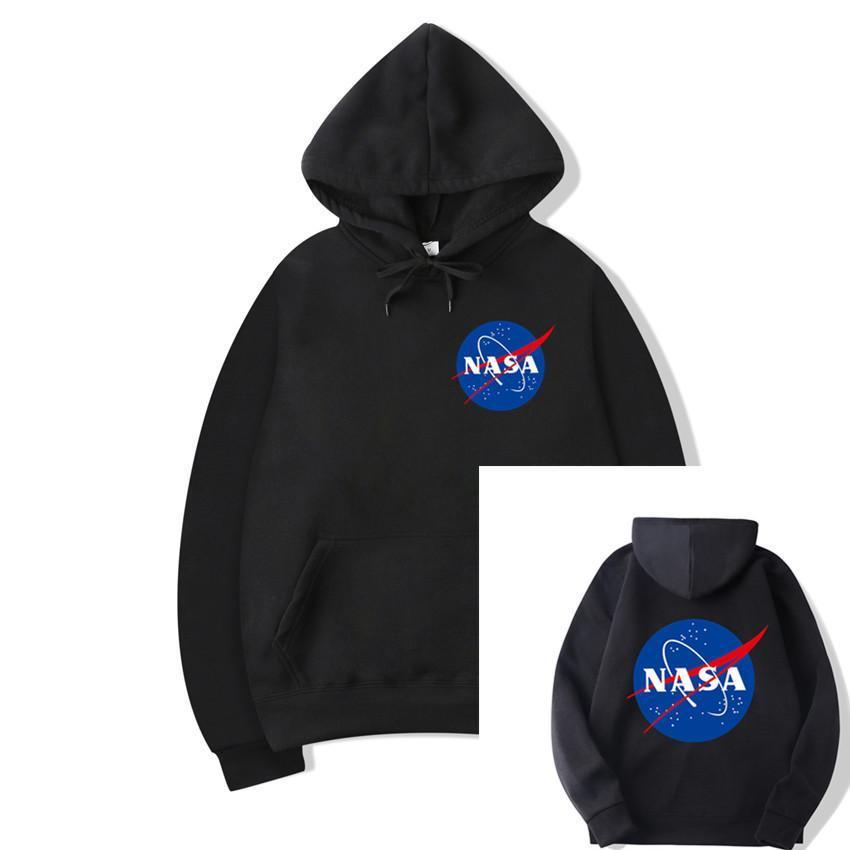 2020 Herbsthoodies-Hip Hop Schwarz Weiß NASA Langarm-Kapuzenshirt Menshoodies-Sweatshirts plus Größen S-3XL