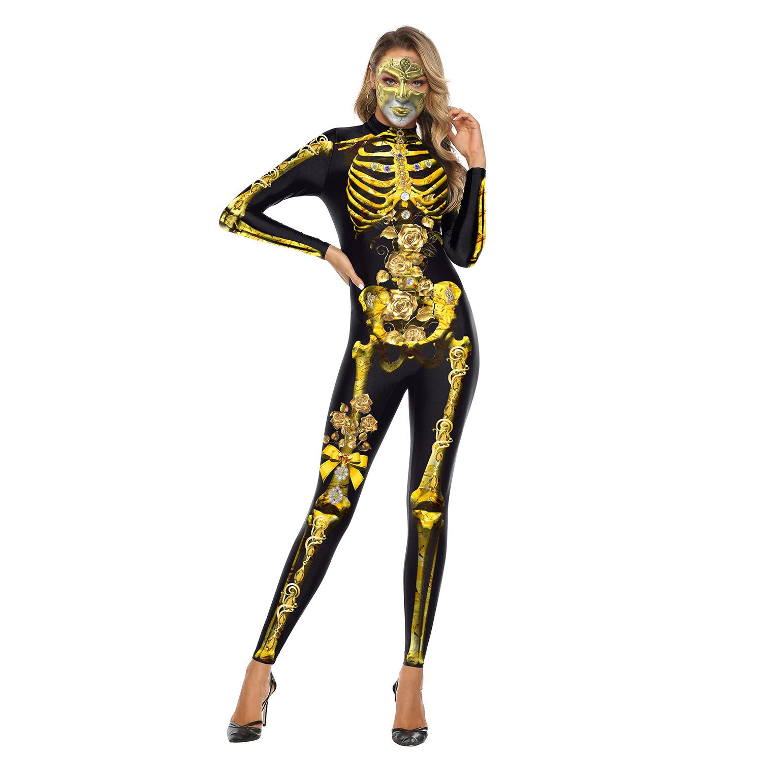 Designer Autumn 3D Truss Printing Adult Woman Role Game Anime Cosplay Playing Halloween Festival Adult Street Costume Jumpsuit