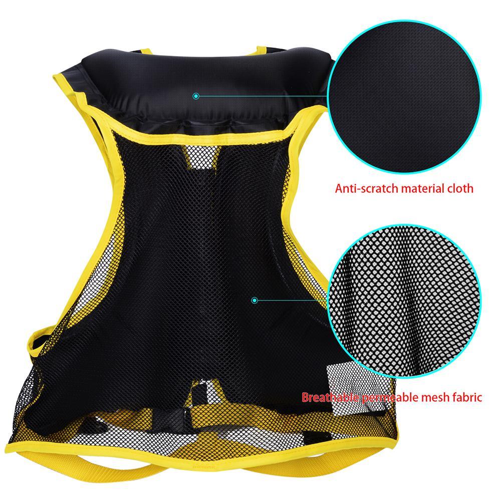Giacca Adult Swim gonfiabili giubbotto di salvataggio per Snorkeling Floating dispositivo nuoto alla deriva acquatico Surf Life Saving Sport