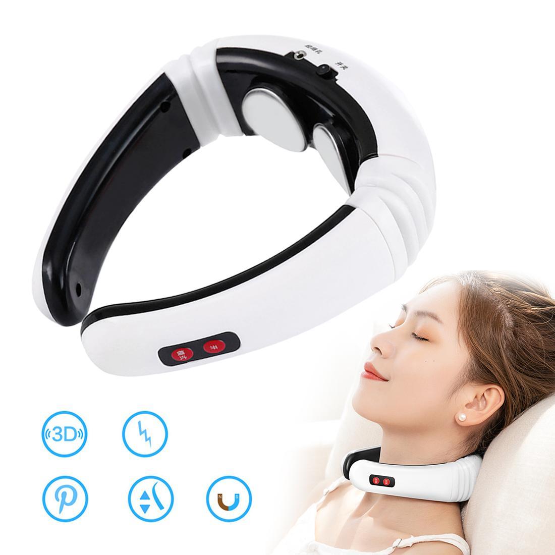 AnsatzMassager elektrischer Pulse Rücken und Nacken-Massagegerät Körper Schmerzlinderung Intelligent Multi effektive Puls Relax Massage