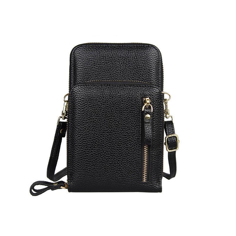 Geldbörsen und Handtaschen PU-Leder Weiche Umhängetasche Tasche Kleine Mini-Tasche Fit iPhone 11 Profall Bolsa Feminina