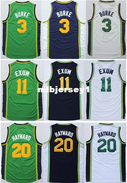 2019 Cheap Men S Gordon Hayward Jersey White Green Blue Stitched 3 Trey Burke 11 Dante Exum Basketball Jerseys Ncaa College From Mlbjersey1 17 75