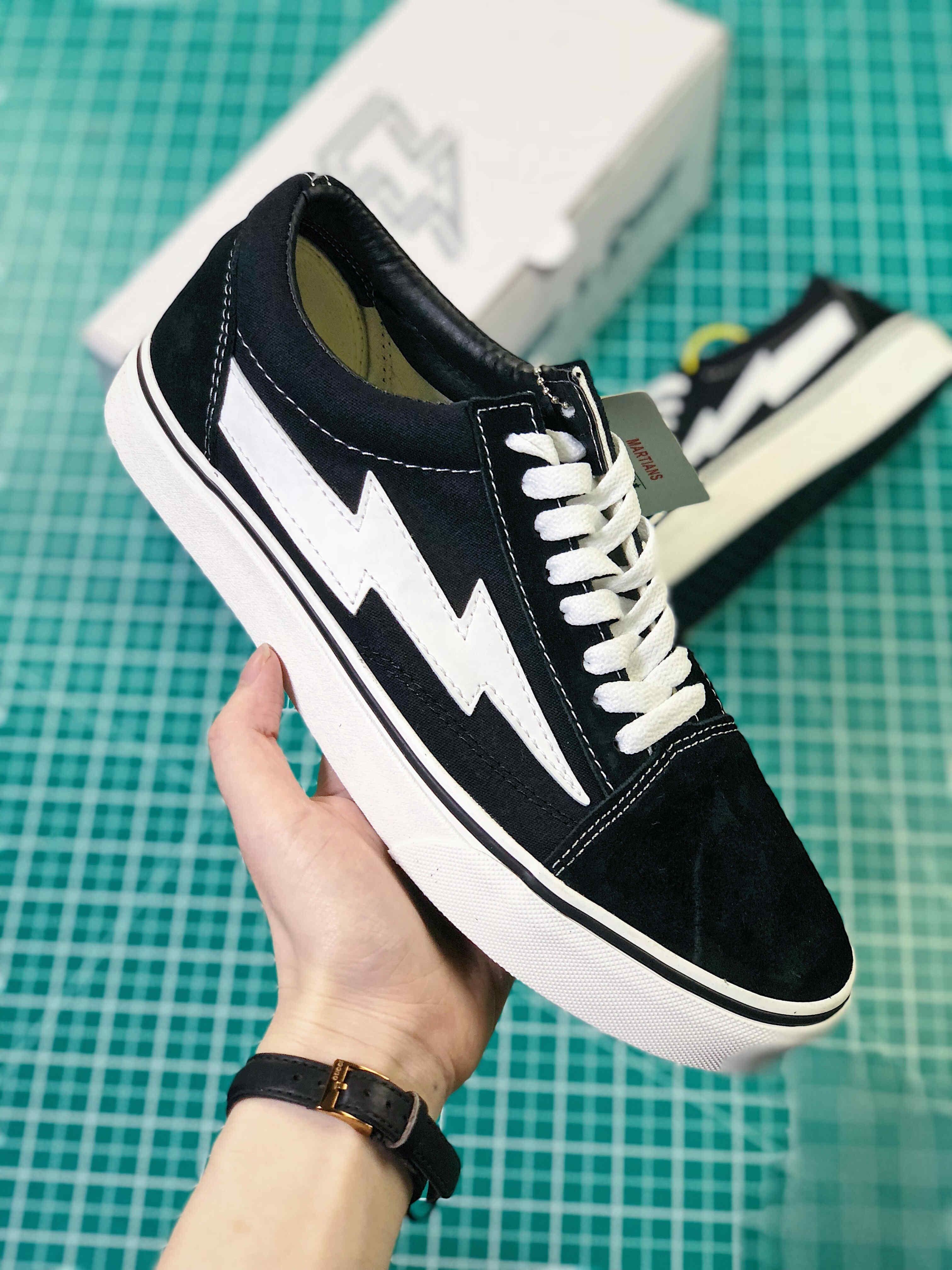 Yeni 2018 İntikam X Fırtına Sneakers kanye batı calabasas Casual Ayakkabı Erkekler Kadınlar Old Skool İntikamı X Fırtına Tuval Ayakkabı