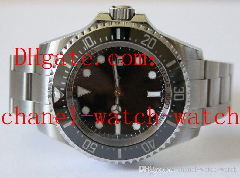 High Quality Men's Sea Dweller 116660 44mm Black Dial Men's Sport Wristwatche Stainless Steel Casual Watches