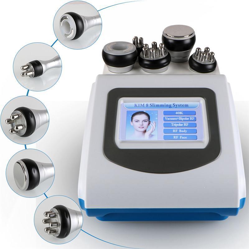 New Arrive 5-1 Ultrasonic Liposuction 40k Cavitation Fat Burning Biopolar RF Face Care Vacuum Body Slimming Machine Spa