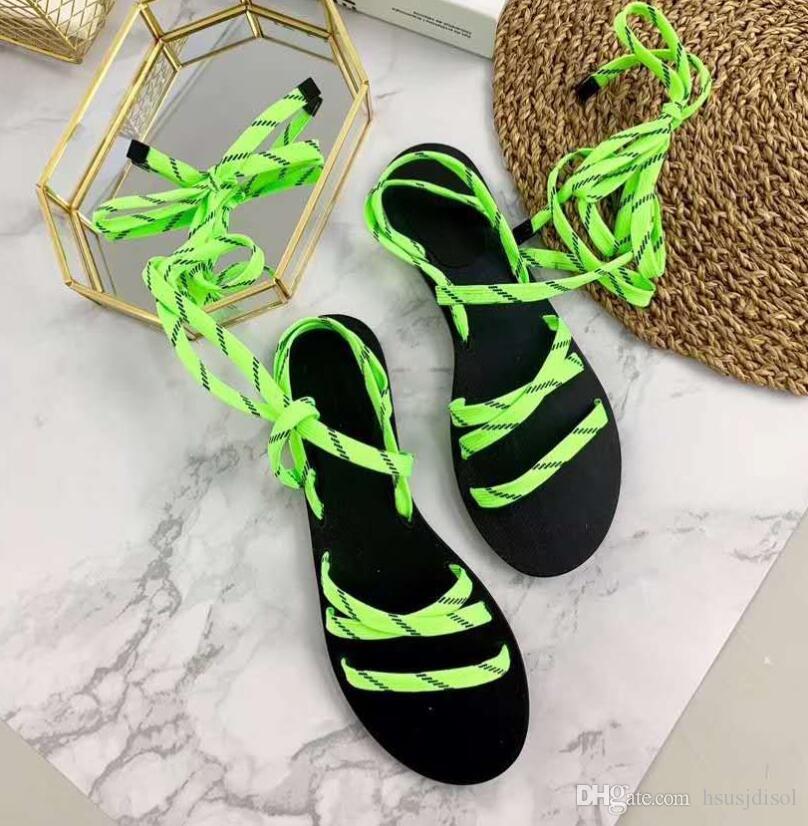 sandali all'ingrosso del nastro delle donne all'ingrosso per le ragazze sandalo di mostra del sandalo degli appartamenti tallone del sandalo dei pattini del merletto tre colori di alta qualità!