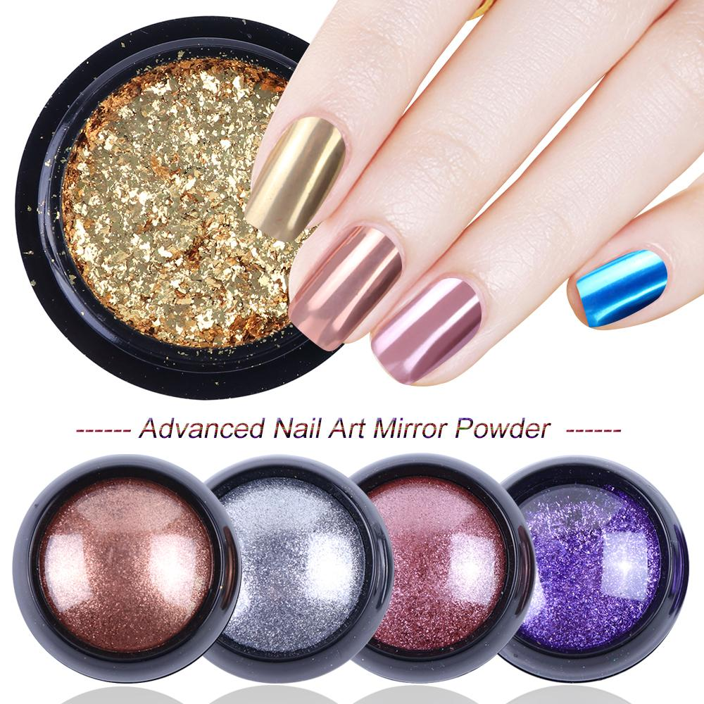 0.3g Rose Gold Pearl Nail Mirror  Glitter Maggic Mirror Effect Holographic Nail Gel Polish Manicure Art Design LA916