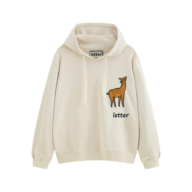 Fahion Hoodie For Mens Womens Designer Hooded Sweatershirts Deer Print Casual Designer Brand Pullover Top Quality Spring Autumn X B101687V