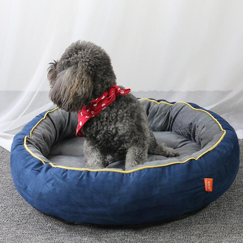 애완 동물 소파, 개 침대, 방수 바닥, 양털, 고양이 침대, 개 침대, 둥근 애완 동물 쿠션, 작은 반 고양이 개집
