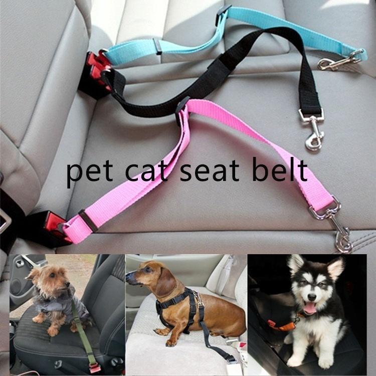مقعد سيارة الحيوانات الأليفة حزام الأمان سفر الكلب ضبط النفس سيارة الكلب حزام الحيوانات الأليفة السفر زينة السيارات