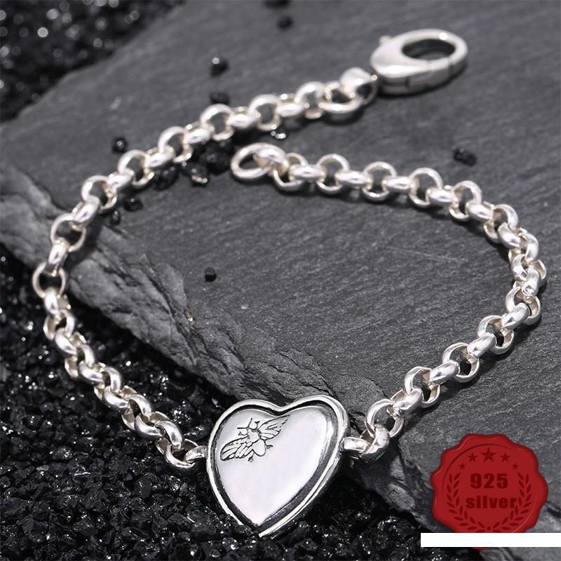100% S925 sterling silver bracelet personality simple jewelry retro fashion love bee shape student 2019 hot sale Bracelets