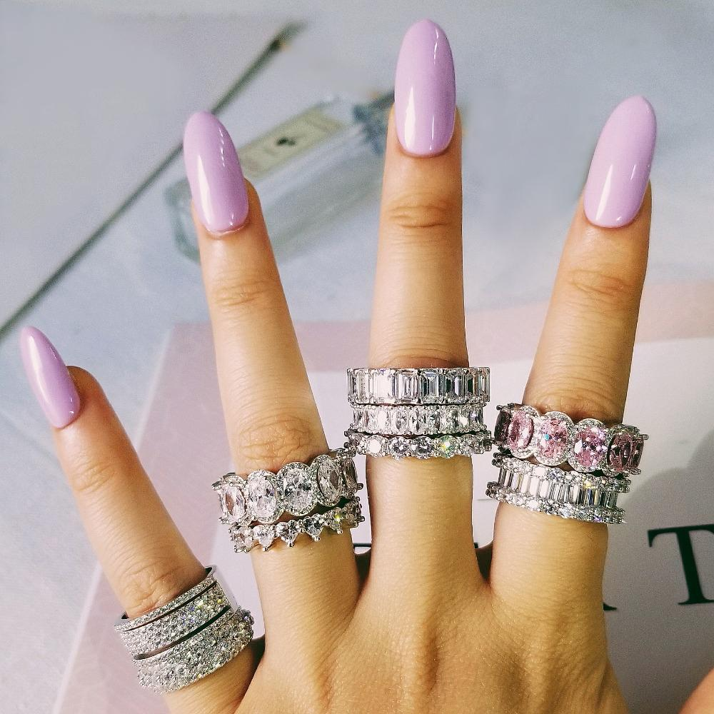 2021 925 Sterling Silver Wedding Band Eternity Ring For Women Big Gift For Ladies Love Wholesale Bulk Jewelry R4577 From Watcheshomie 39 89 Dhgate Com