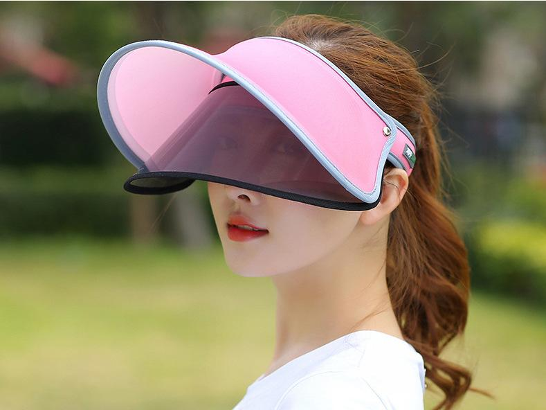 Hat Female Summer Sun Protection Hat Face Covering UV-Protection Fashion Topee Outdoor Outing Sun Versatile Whitening Cap