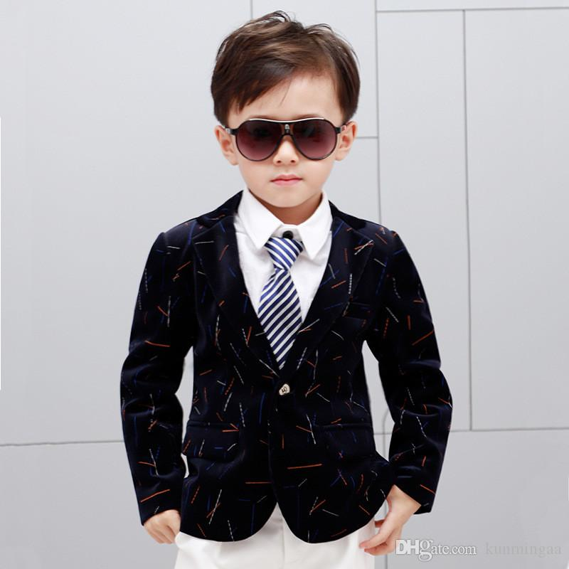 الصبي سترة معطف شهم نمط أزياء قمم الحلل ل 3-10years الأولاد أطفال الأطفال قميص قمم
