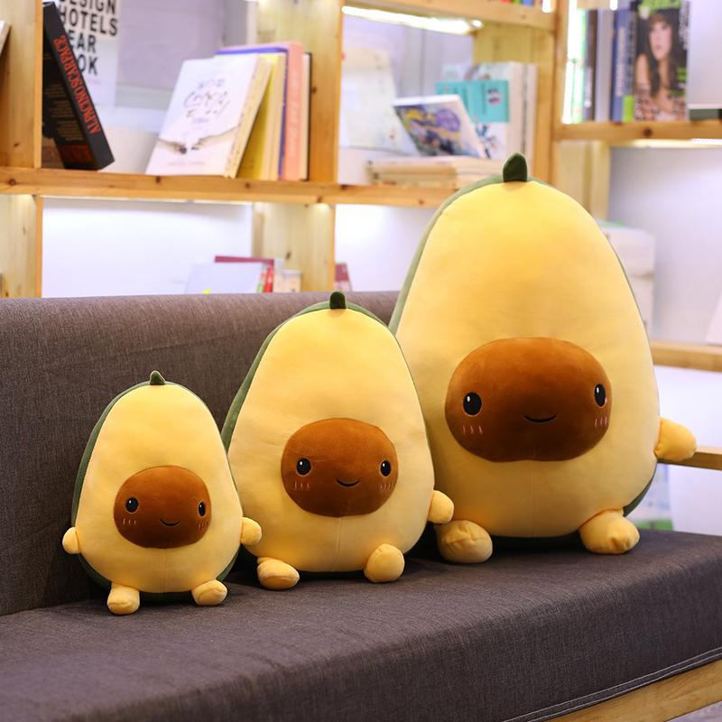 Avocado Fruits Plush Plant Toys Kawaii Cartoon Cute Stuffed Doll Cushion Boys Girls Anti Stress Cushion Pillow For Kids Children