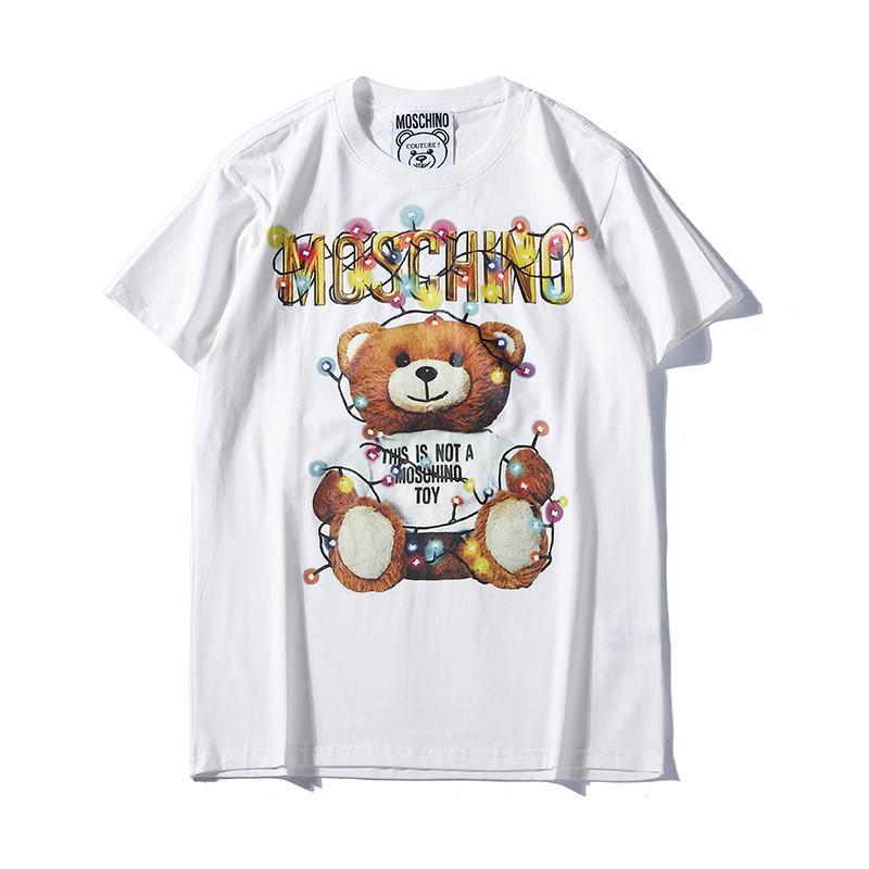 2019 Modemarke Mens T-shirt Hip Hop Weiß Mens Clothing Casual T-shirts Für Männer Mit Buchstaben Gedruckt T-shirt Größe S-2XL # 002