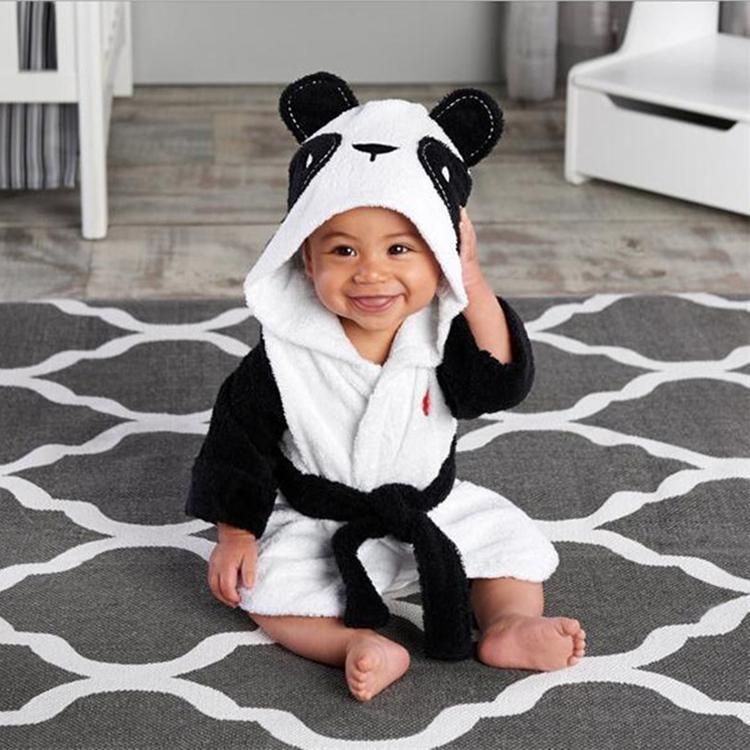 New Kids Bathrobe 4 estilos Kid Nightgown de Nightgown Flannel Casa Roupa Adorável Mouse Panda Coelho Bebê Manga Longa Banho Robes Zzjy733