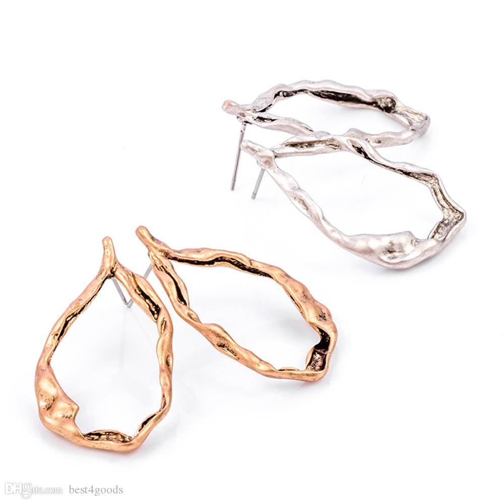 골드 실버 레드 구리 레트로 청동 중공 드롭 귀걸이 쥬얼리 문 매달려 귀걸이 의상 보석 패션 귀걸이