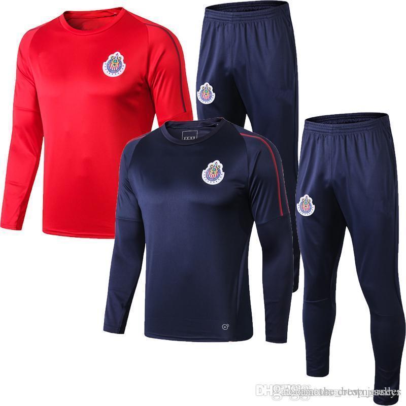 Tailândia New 19 20 Chivas de Guadalajara agasalho 2019 2020 MEXICO Clube LIGA MX terno treinamento A.PULIDO maillot de pé futebol jaqueta