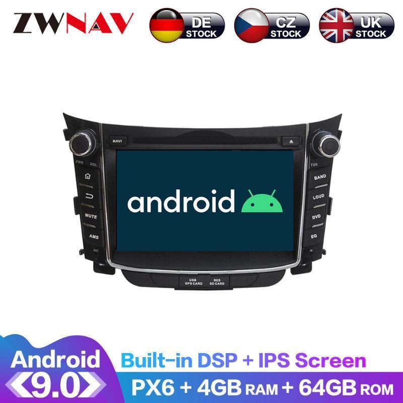 안드로이드 9 화면 PX6 DSP의 경우 I30 엘란트라 GT 2012 + 자동차 DVD GPS 멀티미디어 플레이어 헤드 유닛 라디오 나비 오디오 스테레오 IPS