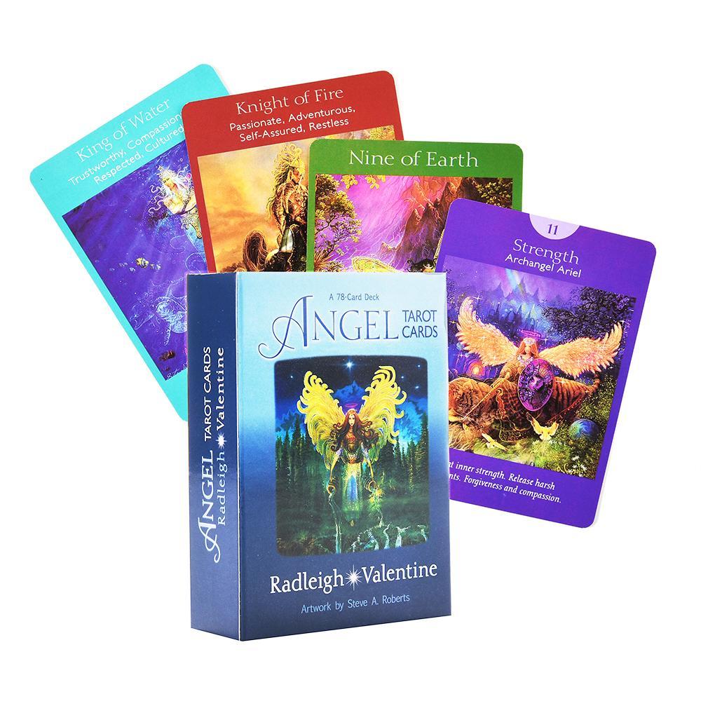 Angel Tarot Cartes Un pont de 78 cartes AndGuidebook Tarot Oracle Game par Doreen Virtue Radleigh Saint Valentin complète