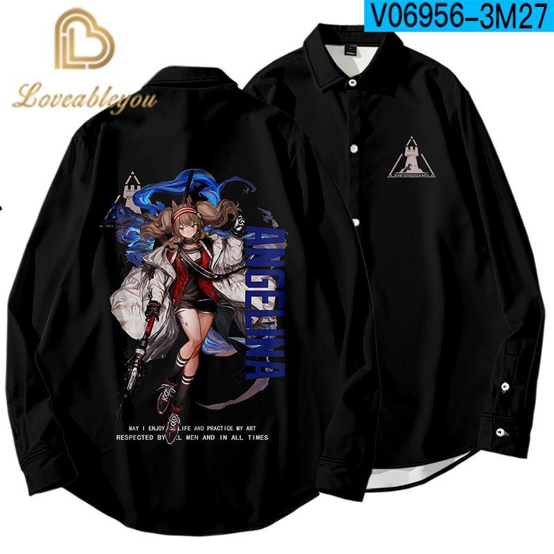 Игровой свободного покроя 3D напечатаны с длинным рукавом рубашки мужчин и для женщин высокого качества уличная рубашка 2020 Мужские рубашки Harujuku