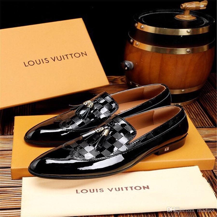 20FW 형식적인 결혼식 신발 명품 브랜드는 고급 신발 가운 데 MARIAGE mocassin 옴므 YECQ4 정장 구두 더비 망에 대한 옥스포드 구두 디자이너