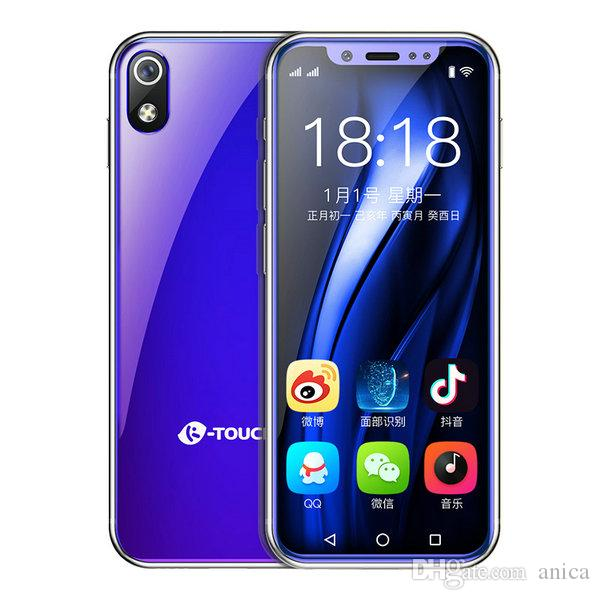Neue 3,5 4G LTE CDMA WCDMA Andriod8.1 Beste Celulares Smartphones Face Lock 64GB ROM MTK6739 QuadCore- 8MP Mini-Handy entsperrt