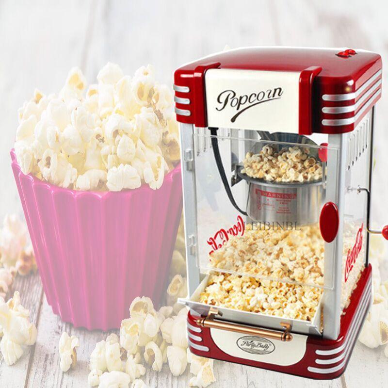 2020 sıcak 220V DIY Mısır Patlatma Elektrik Popcorn Makinası Ev ve Ticari Tam Otomatik Yapışmaz Tava