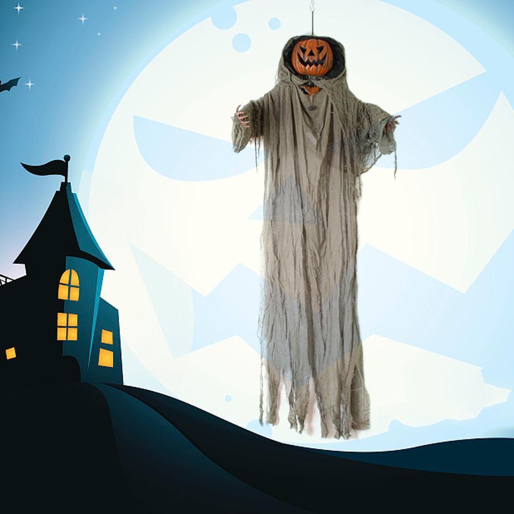 Halloween-Kürbis-hängender Geist Voice Control dekorative Lampe für Partei Tricky Toy Party Halloween-Dekorationen
