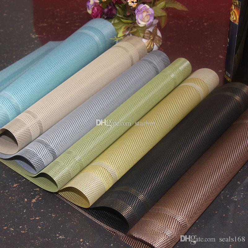 Yeni Tablo placemat Mutfak Bar Mat PVC Placemat Kare Mutfak Alet Yemek Masa Mats Bowl Pad Masa Dekorasyonu Ev Pedleri HH7-2047