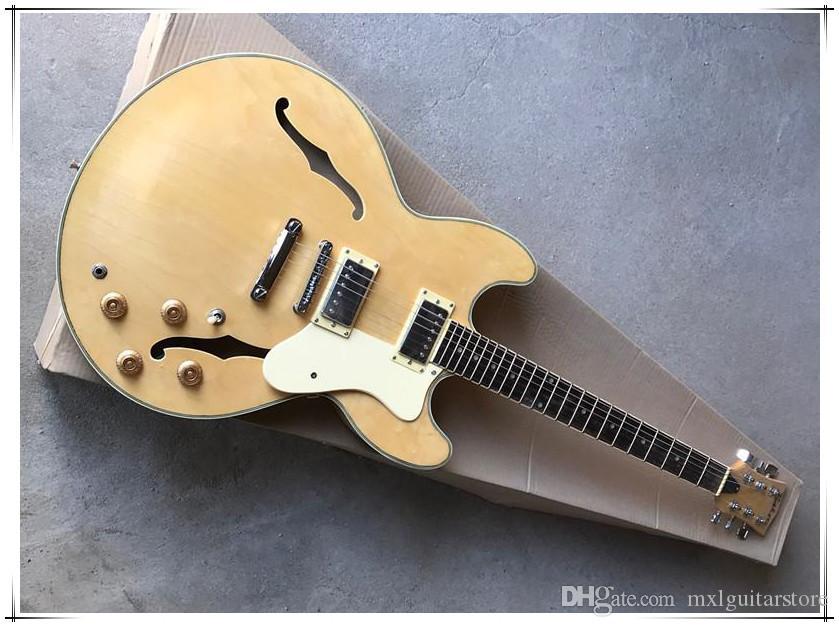 Doğal Ahşap Renkli Elektro Gitar 2H Pikaplar, Gülağacı Klavye, Krom Donanım, Özelleştirilmiş Teklif