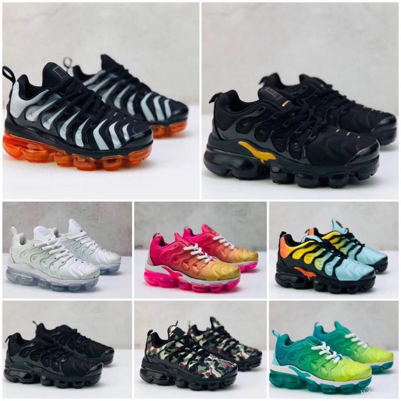 Nike Air TN Plus 2020 Sunset Fades travail bleu TN plus Hommes Chaussures de course enfants RAISIN Lumineux Crimson Hyper arc Volt loup gris Tn sport Chaussures de sport