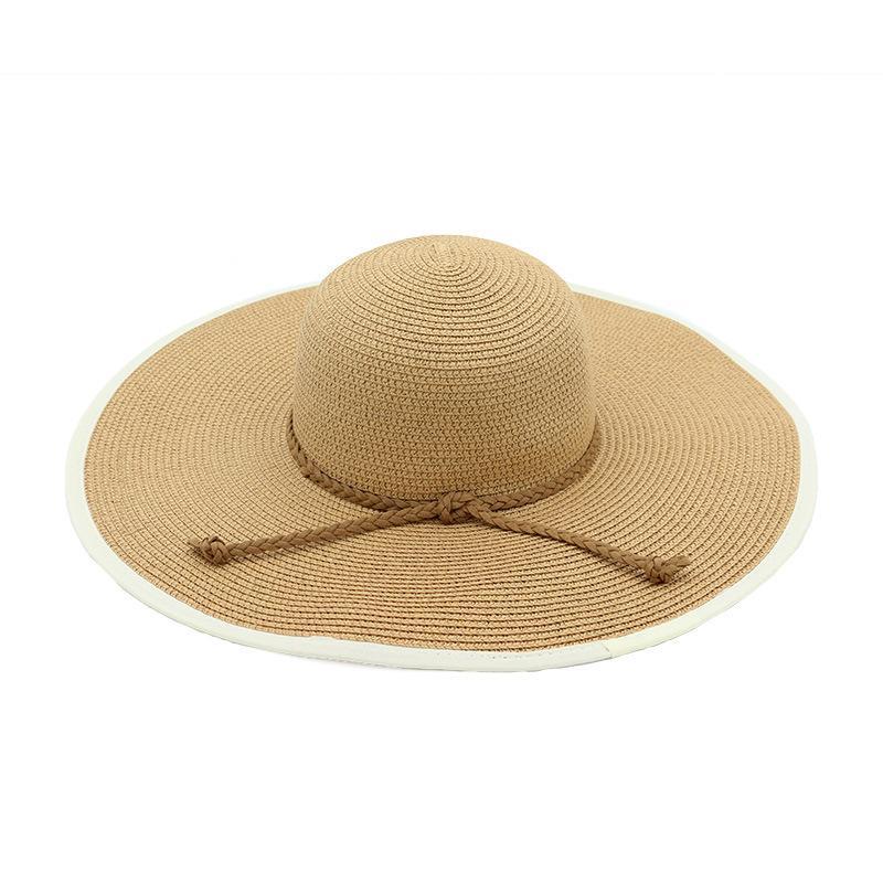 الربيع والصيف الجديدة القوس متماسكة قبعة من القش السيدات واقية من الشمس للتنفس قبعة الشمس في الهواء الطلق على شاطئ البحر الأزياء عطلة الشمس