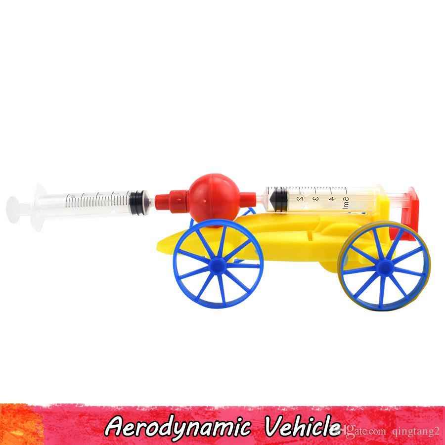 تجربة العلوم الفيزيائية لعبة للأطفال البلاستيك الهوائية السيارة diy اليدوية تجميع نموذج أطقم الإبداعية ألعاب تعليمية الهدايا