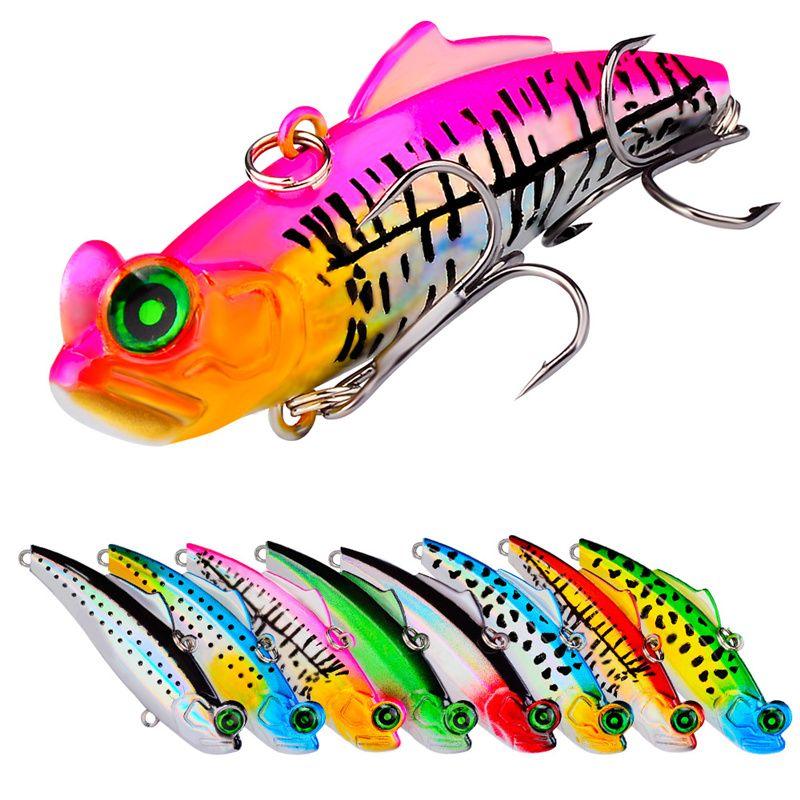 New Colorful Laser VIB Fishing lure 12.6g 6.6cm Shallow Sinking High reflection wobbler hard bait