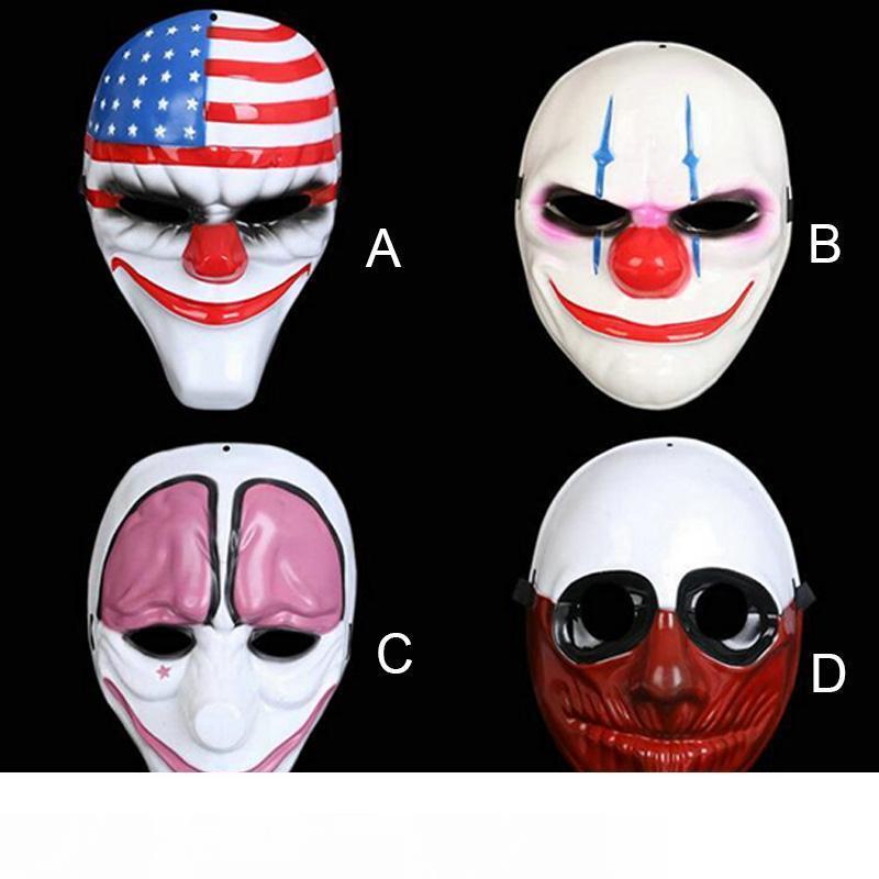 Хэллоуин Ужас Маска Выплаты Жалованья 2 Маска Новейшей Темы Игры Серии Пластиковая Голова Клоуна Головой Флаг Поставляет Красный Маскарад