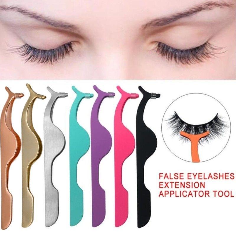 Falso Falso pestana Pinças Eye Lash Applicator pestana Extensão Curler Nipper auxiliar clipe Ferramentas braçadeira de maquiagem