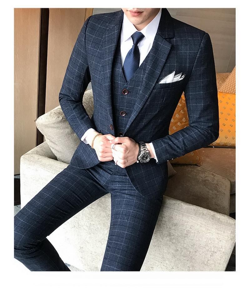 Moda de Nova Prata Cinza melhor homem do noivo vestido de casamento Excelente Homens Business Activity Terno Partido Prom Suit (Jacket + Calças + Vest)