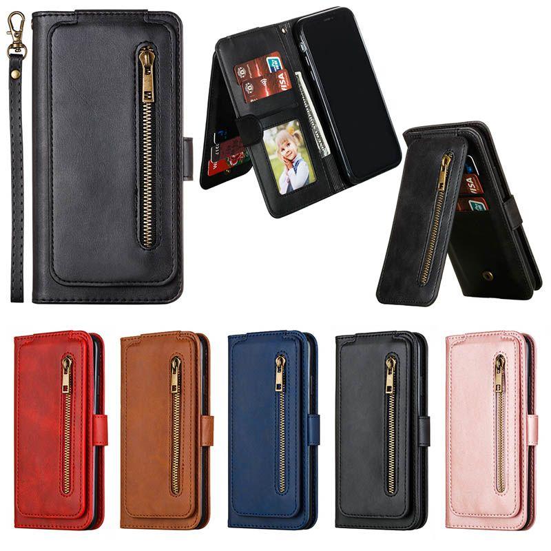 Funda de cuero para teléfono móvil con tapa de lujo para iPhone 11 pro max Samsung S10 huawei mate 30
