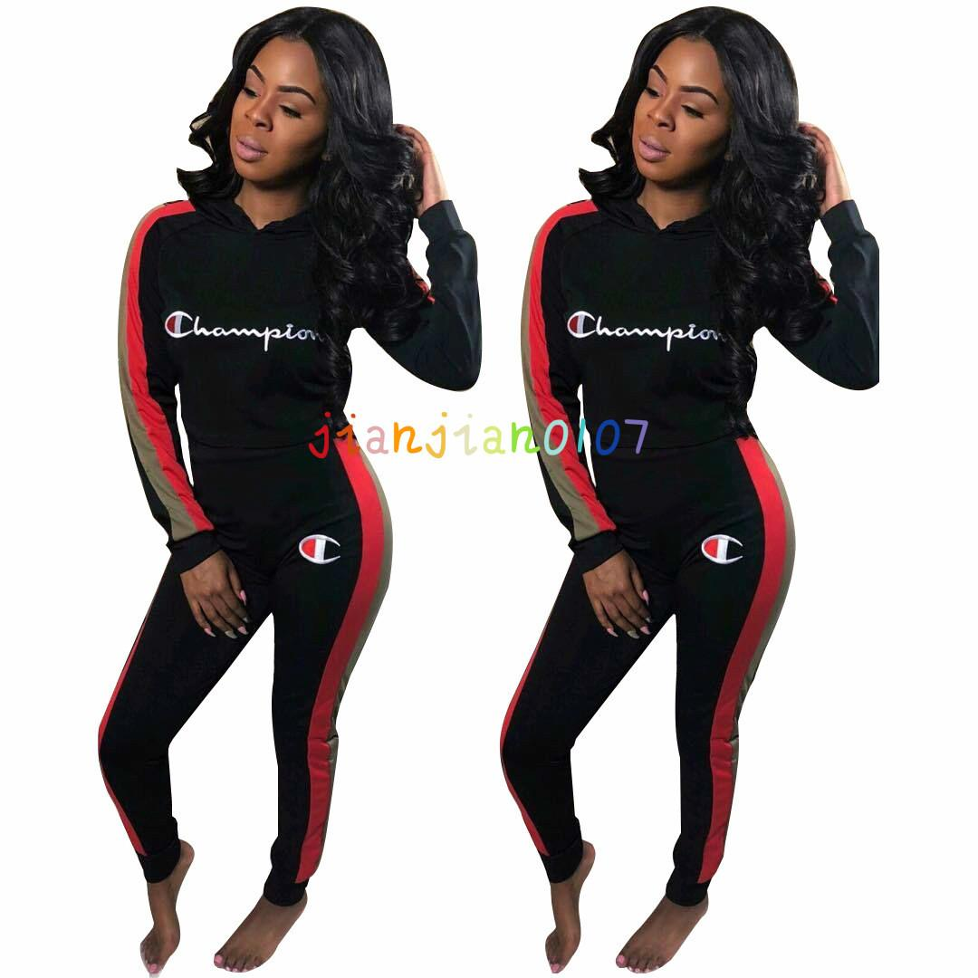 J2124 cross-border women's clothing 2020 women's sportswear fashion high-end suit sports casual pants suit women
