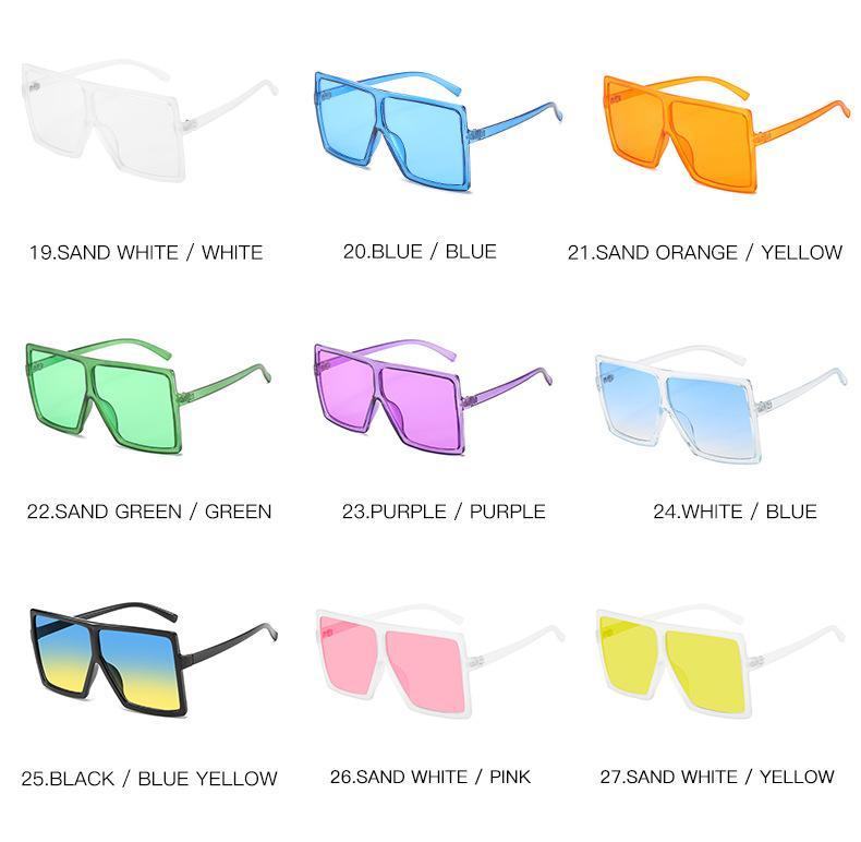 الموضة المتضخم النساء نظارات شمسية مصمم العلامة التجارية الفريدة مكبرة ساحة خمر نظارات إطارات للنساء الأعلى UV400 الجودة 1702