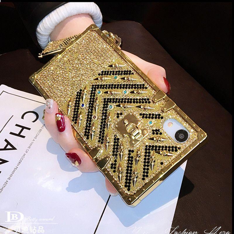 Mytoto мода европейский бренд квадратных алмазов блеск bling чехол для iphone 6S 7 8 плюс X XS XR Макс шнурок мягкая женщина телефон куш