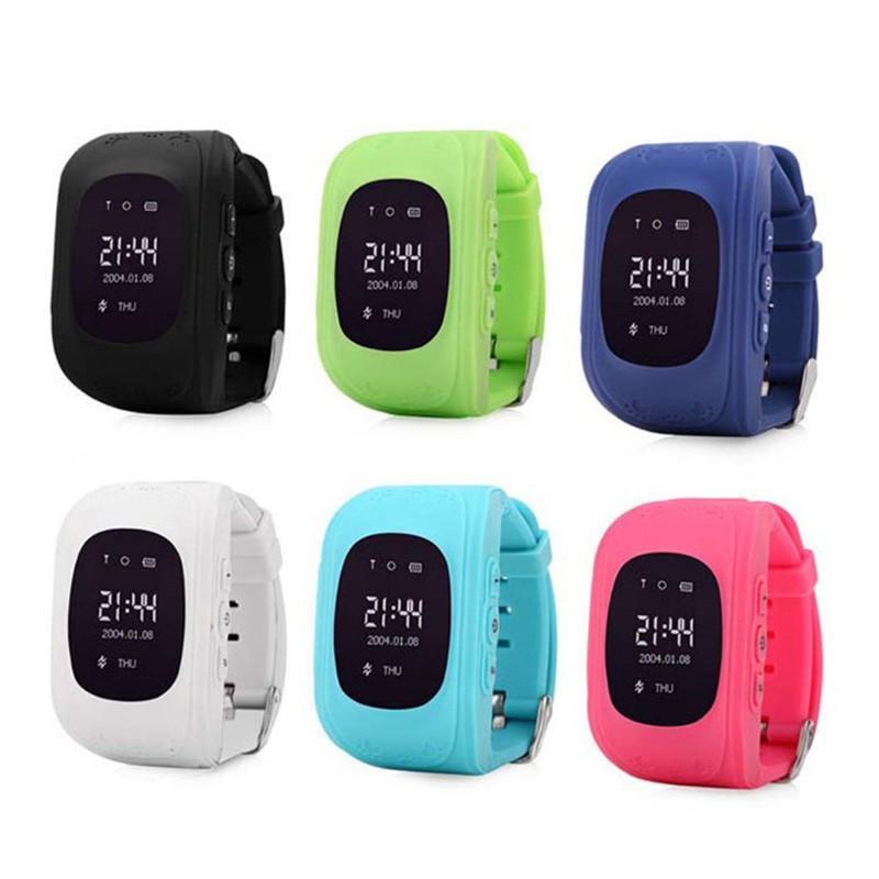 Q50 LCD LBS SOS Chiamata sicura Localizzatore di localizzazione Tracker Smartwatch per bambini Localizzatore di regali Tracker Kid Smartwatch iOS Android Monitor anti-perso